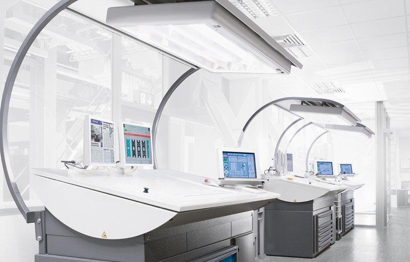 moderne Druckereimaschinen