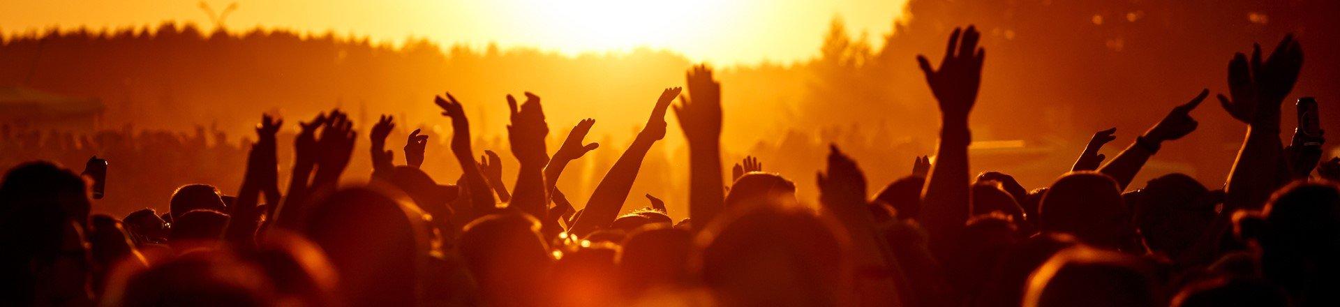 Menschenmenge bei Konzert